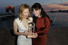 Sarah Gadon and Emily Hampshire